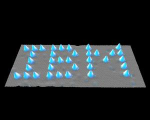 Photo: IBM spelled in Xenon atoms