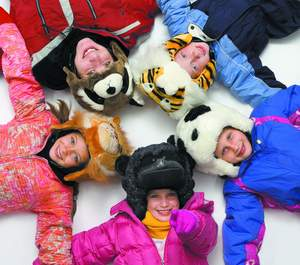 crazeeHeads ski helmet covers for kids, with the look <br> of a stuffed animal, help them stay safe on the slopes <br> and easy to spot. (crazeeHeads.com $31.99)