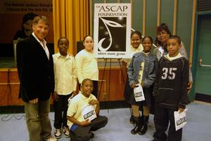 Oscar and Grammy award-winning composer and lyricist <br> Stephen Schwartz (left) shared music and stories from his most <br> recent musical 'Wicked' with 5th grade students from Harlem's <br> P.S. 123 Monday (Nov. 13), as part of The ASCAP Foundation <br> 'Children Will Listen' program.  Today (Nov. 15), 100 students <br> from P.S.123 along with principal Dr. Beverly Lewis (pictured here) <br> will take a trip to see a special matinee performance of 'Wicked.'
