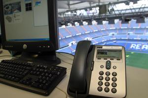 IP Phones at Santiago Bernabéu Stadium.