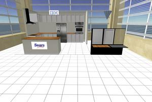 SEARS AND IBM OPEN 3-D VIRTUAL SHOWROOM: Sears and IBM unveiled a prototype 3-D showroom called the Sears Virtual Home, which resides on an IBM island in the virtual world of Second Life. In the early prototype, users can experiment with changing the color of the cabinets and countertops in a virtual kitchen, explore 3-D versions of various home theater set-ups and learn how to organize their garage by virtually customizing storage accessories.