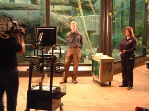 Cleveland Metroparks Zoo presenters prepare for program on Orangutans