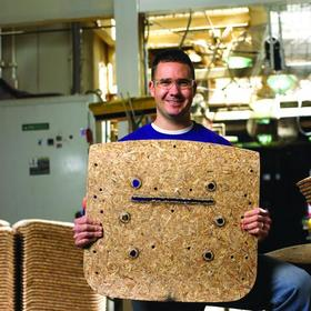 The HON Company has taken steps to reduce the number of trees<br>that must be cut down to create its products. Through a process <br> called 'comold,' HON uses post-consumer wood waste for many of<br>its seating components.