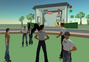 Kelly Services' island in Second Life