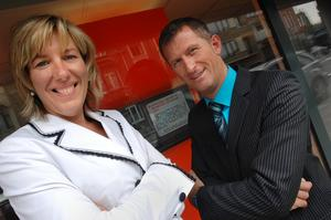 Conny Vandendriessche, COO (l) and Wim Vanhaelemeesch, IT manager, at Accent Jobs For People