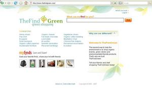 TheFindGreen offers environmentally conscious consumers the ability to shop for eco friendly goods such as clothing, housewares, sporting and food items.