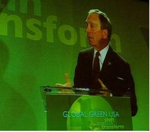 Mayor shares his plan for a greener New York with Global Green (12/3/07)