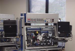 Bosch Rexroth provided hydraulics and pneumatics training equipment in the new Texas AandM fluid power lab