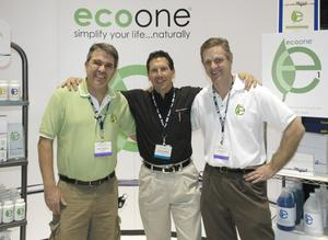 Michael Wynhoff (CEO, Pacific Sands), Richard Weber (Partner, Weber / Moreton) and Robert Vineyard (National Sales Manager, Pacific Sands) at the International Pool and Spa Expo in Orlando, FL