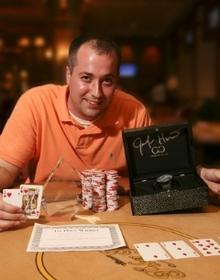 2008 Jennifer Harman Charity Poker Tournament Winner Seth Dupre. Photos by Rob Gracie/GreasieWheels.com.