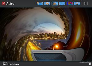 Adobe Pixel Bender used to create custom 'tunnel' effect on video