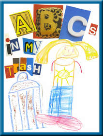 'ABC's in My Trash,' an award-winning book illustrated by Tessa Hartley, which demonstrates creativity in raising awareness about recycling.