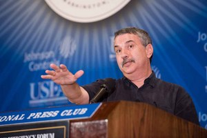 New York Times columnist Thomas Friedman challenges influential energy executives in business and government   at the 19th Annual Energy Efficiency Forum.