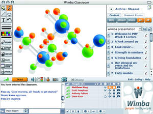 Wimba Classroom 5.2, cornerstone of the Wimba Collaboration Suite, is a fully-featured, live, virtual classroom solution that includes audio, video, application sharing and content display.
