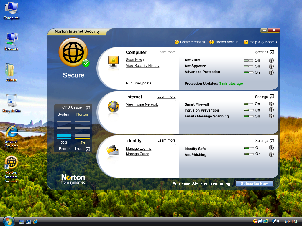The Norton AntiVirus and Norton Internet security have launched a