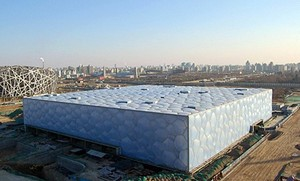 The Water Cube is the venue for swimming, diving, synchronized swimming and water polo competition at the Beijing 2008 Olympic Games.