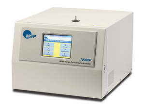 MSP's M-1000XP Wide-Range Particle Spectrometer is a unique particle-measuring instrument that uses laser light scattering, differential mobility analysis and condensation particle counting to measure and sort aerosol particles as small as 10 nanometers into 120 different size channels.