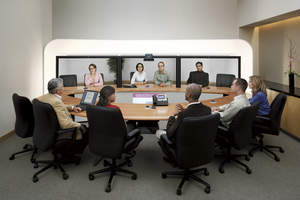 Cisco TelePresence 3000 in action