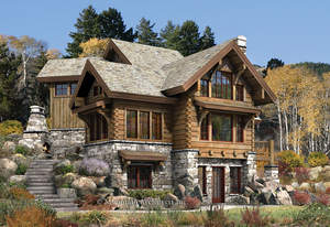 A cozy three level log cabin home the newest addition to for Log home plans tennessee