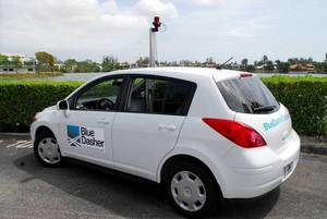 Blue Dasher Technologies vehicles, equipped with state-of-the-art technology, capture images of streets and highways in Maricopa County.