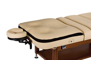 Living Earth Crafts' ConformaTop(TM) Comfort System -- a spa treatment table salon top with a multi-layer memory foam system with Flex-Panel(TM).