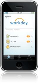 Workday for iPhone is part of the company's latest solution update, available this month. Workday for iPhone lets users review, approve, deny and forward tasks from the Workday system and view the status of ongoing business processes. Users can search their company's worker directory for names, images and contact information, call or email coworkers directly and view physical addresses on Google Maps.