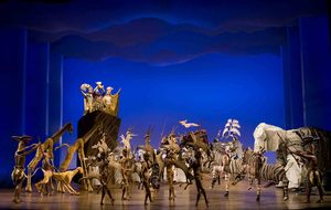 The opening number The Circle of Life from THE LION KING Las Vegas.  (c)2009, Disney.  Photo Credit:  Joan Marcus.