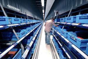 The DPS system at the EDEKA central warehouse in Hamm was expanded by 78,000 tote locations to a total of 138,000 tote locations.