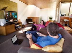 Scenario of digital multitasking in action at home.