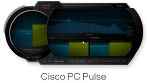 Sample view of the Cisco PC Pulse application