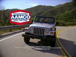 Images from new advertising campaign from national car care leader AAMCO.