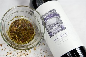 Don Miguel Gascon Malbec paired with an authentic Argentine Chimichurri.