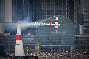The Detroit Riverfront served as the backdrop for the third stop of the Red Bull Air Race World Championship where British pilot, Paul Bonhomme, took home first place on Sunday, June 14.
