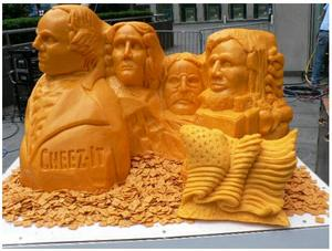 Life Sized Cheese Carving Of Abraham Lincoln Displayed In