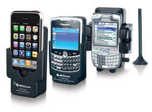 Wilson Electronics introduces a booster product line to cradle, charge, and boost smartphone cellular signals.  iBooster for the iPhone; CBooster for the Blackberry Curve; and the UBooster as a universal model for everything else.