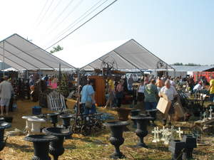 Yard salers in Clarkrange, TN look for best buys at the World's Longest Yard Sale.