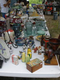 Use a sturdy, folding table like those from Lifetime Products to display yard sale items, says Curt H. from Knoxville, TN.