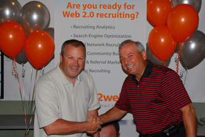 Company founder and Chief Innovation Officer Doug Berg and CEO Ken Holec Celebrate Jobs2Web's Inclusion in the 2009 Inc 500