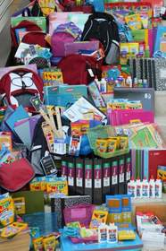 Wellness International Network collected school supplies for homeless children through the Rainbow Days Back-to-School Drive.