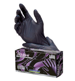 Adenna Shadow Black Nitrile Powder Free Exam Glove