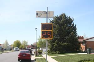 Traffic Logix Radar Speed Sign