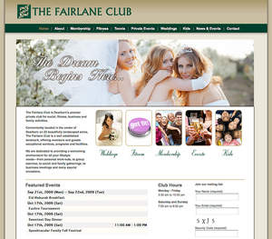 The Fairlane Club web site home page