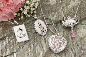 Celebrate Your Faith Supports Breast Cancer Awareness Month with a special line of necklaces.