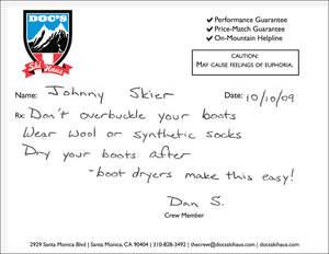 Doc's Ski Haus prescription