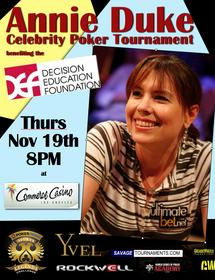 Annie Celebrity Poker Night Poster
