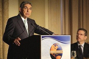 Costa Rican President Oscar Arias
