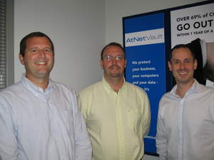 Partner Jim Laber, new Web Services Manager Jeff Phillip and Partner Jay Mellon at AtNetPlus