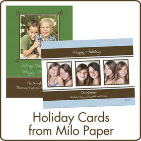 Holiday Cards from Milo Paper available at Cardstore.com