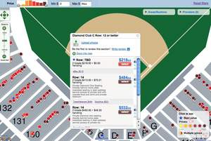 Zoomed in FanSnap Map view of Citizens Bank Park for NLDS Game 1 Philadelphia Phillies tickets (Octo