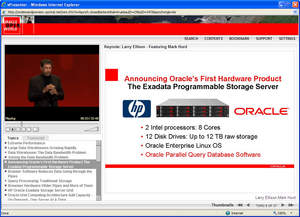 Oracle OpenWorld 2008 session content and accompanying presentation on the vSearch platform